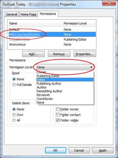 Mailbox User Permissions