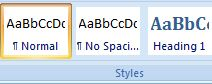 Styles in Microsoft Word